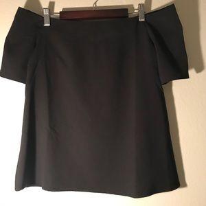 Black off the shoulder top